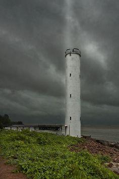 Panaji lighthouse in goaPanaji Range Front GoaIndia