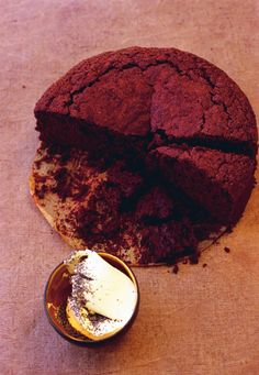 An extremely moist chocolate-beet cake with crème fraîche and poppy seeds. Tender by Nigel Slater