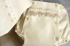 Smocked diaper cover