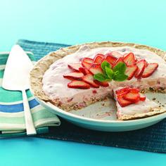 Fluffy Strawberry Meringue Pie