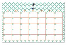 Anchor Monthly Desk Pad, Mint | $30 Thrills