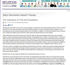 The Importance of Time and Consistency -  Pinned by @PediaStaff – Please Visit http://ht.ly/63sNt for all our pediatric therapy pins