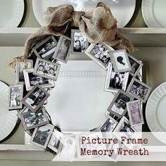 Easy Home Crafts Dollar Store Memory Framed Wreath