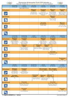 Olympische kalender Sochi 2014 >> 2 stuks kado bij elke bestelling.