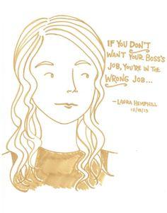lastnightsreading:  Laura Hemphill at the Strand, 12/18/13 Buy the drawing here.