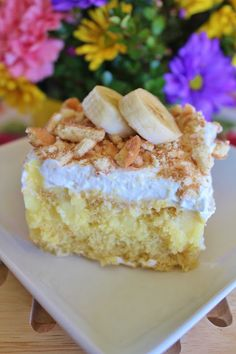Joyful Momma's Kitchen: Banana Cream Poke Cake