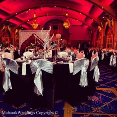 Mubarak Weddings Making Memories - Giving your happily ever after the best possible beginning. Winter Wonderland Wedding theme & decor, using our magical crystal ball & crystal tree wedding centrepieces, along with our custom built Butterfly wedding stage & Rose petal walkway.