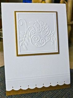 Matted embossed square