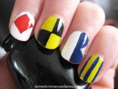 Nautical 'flag' nails