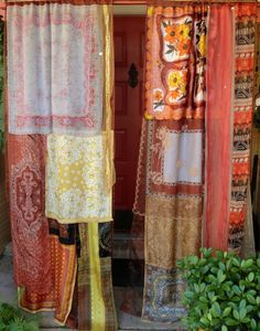EARTHSONG  Handmade Gypsy Curtains by BabylonSisters on Etsy. Would totes match my room.