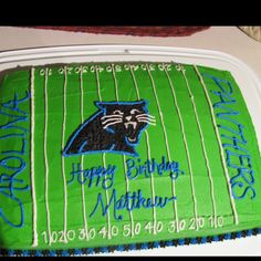 Carolina Panther cake for my son's birthday :)