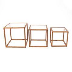 Danish beech cube nesting tables -$650.