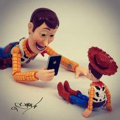 Woody taking pictures of his Woody. - @santlov- #webstagram