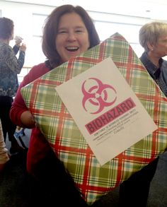 Biohazard warning -- Fun-filled gift-giving up ahead at The College of Nursing! #CUHSLibrary