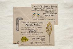 galleries, tree, kraft paper, brides, wedding invitations, the bride, handwritten, photography, unique weddings