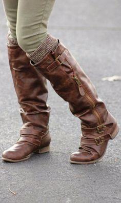 Adorable for winter long boots and leg warmer