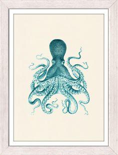vintage nautical prints via seaside prints on etsy #etsy #print #octopus