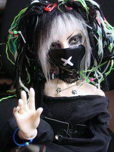 #Cybergoth doll