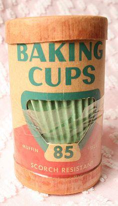 Vintage Baking Cups