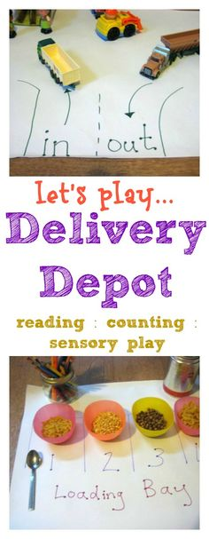 Know someone who loves to play with toy cars and trucks? This delivery depot is a great play idea that's easy to set up and includes lots of ways for children to develop their language, reading and maths skills as they play.