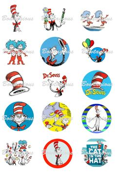Bottlecap images for my Dr. Suess party