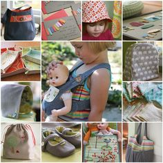 This blog has so many cute sewing ideas. Baby doll clothes, tiny pretend tea bags and pasta, and adorable girl clothes!