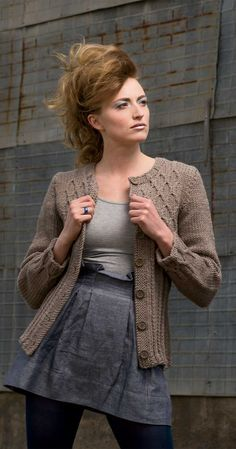 Cozy sweater knit in Valley Yarns Northampton Bulky >> Dauphine Cardigan from Knitscene Fall 2014 #knitting #valleyyarns #cableknitting