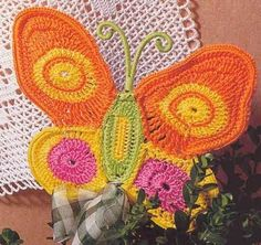 #Crochet - Many Beautiful #Butterflies with charts.