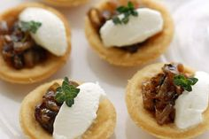 food idea caramelis onion parti food onion tartlet