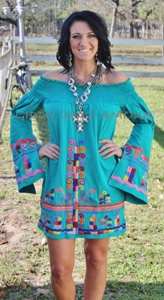 You Da One Turquoise Dara VaVa Dress www.gugonline.com $149.95