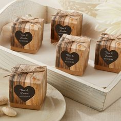 """""""Hearts in Love"""" Rustic Favor Box - Set of 24 - Favor Boxes - Favor Packaging - Wedding Favors & Party Supplies - Favors and Flowers"""