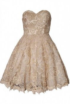 Embroidered Lace Skater Dress by OPULENCE ENGLAND @girlmeetsdress