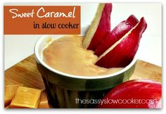 The best sweet caramel dip made in the slow cooker!