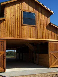 barns with living quarters, barn doors, garag, dream barn, pole barn, barn living quarters, metal horse barn, barn homes, horse barns