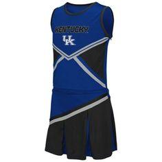 Kentucky Wildcats Youth Girls Shout Cheer Dress - Royal Blue $34.95