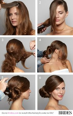 #DIY this pretty side bun | Brides.com
