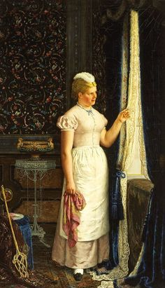 Carl Ludwig Jessen (German, 1833-1917) - The young maid maid
