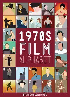 70s Film Alphabet by Stephen Wildish