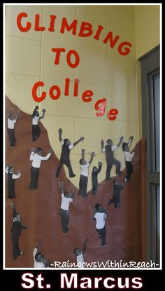 Climbing to College, Bulletin Board at St. Marcus, Milwaukee