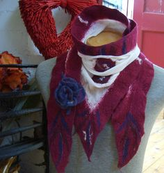 NUNO FELTED SCARF by Beautifulfelts on Etsy, $60.00