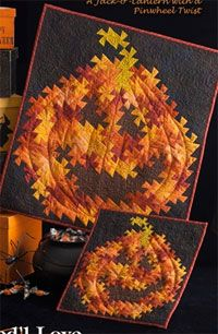 Twister Jack Wallhanging Pattern by Needl Love at KayeWood.com. The pattern for this Jack-o'-Lantern with a Pinwheel Twist may be made in 2 sizes. http://www.kayewood.com/item/Twister_Jack_Wallhanging_Pattern/2958 $10.00