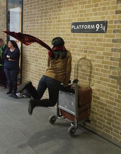 And with all of your thoughts on your friends at Hogwarts, you're finally off. | What It's Like When A Harry Potter Fan Makes The Journey To London