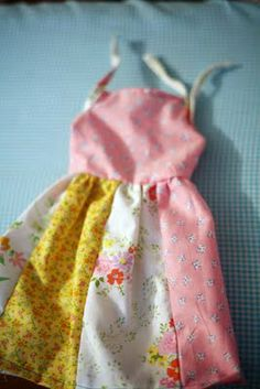 Tutorial for patchwork dress.