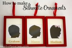 How to make silhouette ornaments - the easiest way ever! - Nest of Posies
