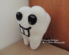 Crochet Tooth Fairy Pillow with Pocket  PATTERN by CrochetItBaby, $5.00