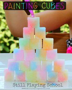 Still Playing School: Painting Sugar Cubes