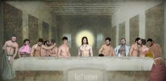 Gay Cena - Jesus and his Boyz have their last supper