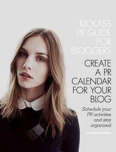 Create a PR Calendar for your blog