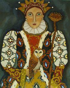 Queen of Wands tarot image