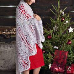 Un châle en dentelle tricotée // shawl, knit, lace